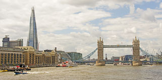 The Shard & Tower Bridge Stock Photos