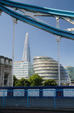 The Shard Tower and City Hall in London Royalty Free Stock Images