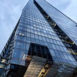 The shard tower London. Glass reflections towers Stock Images