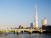 The Shard towering over River Thames London Royalty Free Stock Image