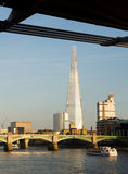 The Shard towering over River Thames London Stock Photo