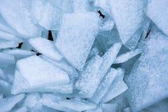 Shards του πάγου πάνω από τη λίμνη Μίτσιγκαν στοκ φωτογραφίες