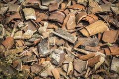 Shards της αγγειοπλαστικής στοκ φωτογραφία με δικαίωμα ελεύθερης χρήσης