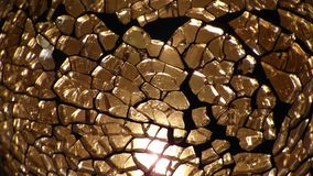 Shards of broken glass. With lighting royalty free stock image