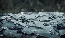 Shards dirty glass background, dirty old broken glass, broken dreams