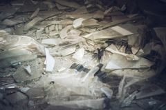 Shards of glass. Of a broken window royalty free stock images
