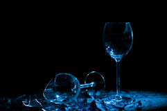 Shards of glass. Shards from glass of wine Royalty Free Stock Photo
