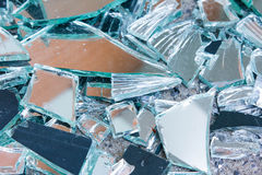 Shards of shattered glass. Stock Photos