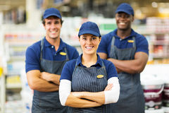 Shardware store workers Royalty Free Stock Image