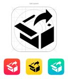 Share from box icon. Vector illustration stock illustration