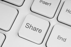 Share button Royalty Free Stock Images