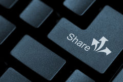 Share button Royalty Free Stock Photography
