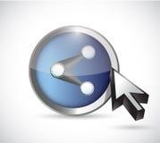 Share button illustration design Royalty Free Stock Photos