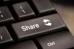 Share button key Stock Photography