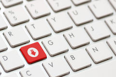 Share button key stock photo