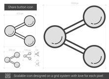 Share button line icon. Stock Photo