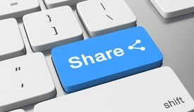 Share button Stock Image