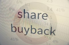 Share buyback Stock Photography