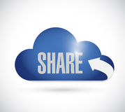 Share cloud illustration design. Over a white background Stock Images