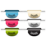 Share colorful labels Stock Image