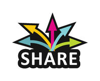 Share, Communication concept Royalty Free Stock Photo