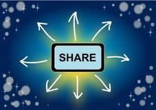 Share concept illustration Stock Photos
