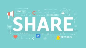Share concept illustration. Royalty Free Stock Images