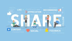 Share concept illustration. Royalty Free Stock Image