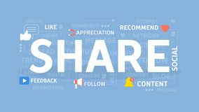 Share concept illustration. Royalty Free Stock Photo