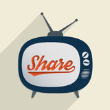 Share. Concept for support, knowledge sharing, charity and giving help. Flat design illustration Stock Image