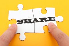 Share concept Royalty Free Stock Images