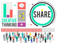 Share Creative Thinking Exchange Technology Concept Royalty Free Stock Photos