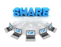 Share 3d concept illustration royalty free illustration