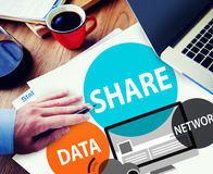 Share Data Network Sharing Social Network Connection Concept Royalty Free Stock Photos