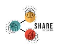 Share experiences line art concept illustration Stock Images