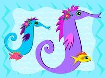 share för hav för fiskhästögonblick royaltyfri illustrationer