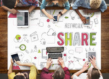 Share Feedback Exchange Networking Information Concept Stock Image