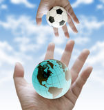 Share football world cup scores Royalty Free Stock Photos