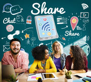 Share Global Communication Networking Portion Concept Royalty Free Stock Photos