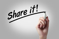 Share it Stock Image