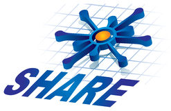 Share icon. Illustration with text and graphics Royalty Free Stock Photography