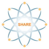 Share icon Royalty Free Stock Photos