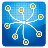 Share icon. Illustration with text and graphics Stock Image