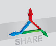 Share icon Stock Photography