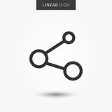 Share icon vector illustration Royalty Free Stock Images