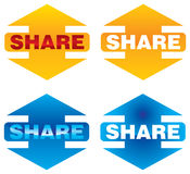 Share icons Stock Photo