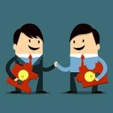 Share idea. Boss and Employee Share Ideas Stock Photography