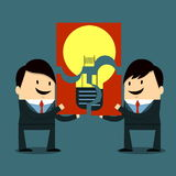 Share idea. Business People - Ideas & Collaboration Concept Stock Images