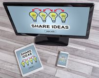 Share ideas concept on different devices Stock Photo