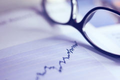 Share Index with glasses Royalty Free Stock Photos